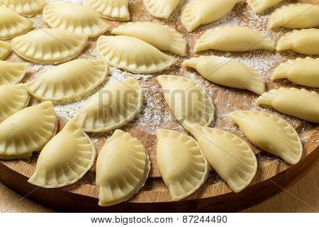 Uncooked Homemade Dumplings