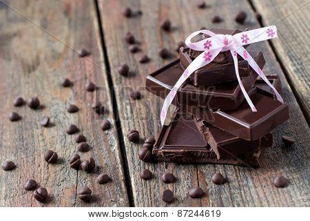 Pyramid Of Chocolate Pieces