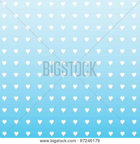 Hearts With Faded Blue Background