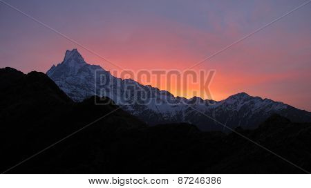 Machapuchre At Sunrise