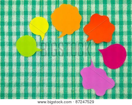 Colorful Balloons (Green Fabric Background)