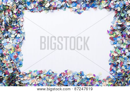 Confetti On A Blank Background.