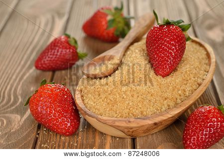 Cane Brown Sugar And Strawberries
