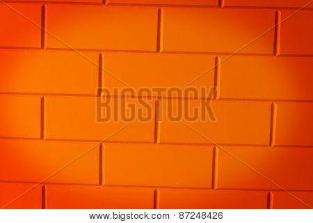 Walls made of brick orange