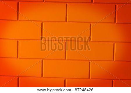 Walls made of brick orange