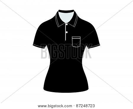 Black polo shirt outline