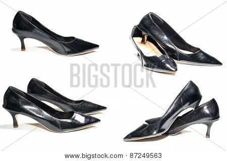 Photo of ladies black high heel shoes