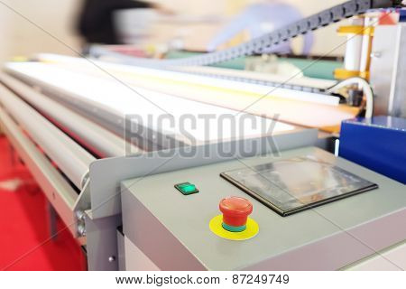 The image of a professional printing machine