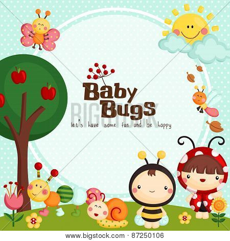Baby bugs card