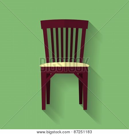 Icon Of Chair. Flat Style