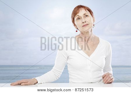 Senior woman and summer holiday