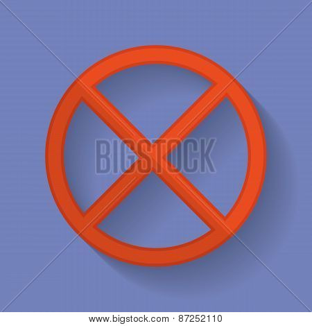 Prohibition Sign Flat Icon