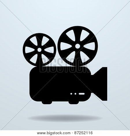 Icon Of Film Projector. Cinema Projector.