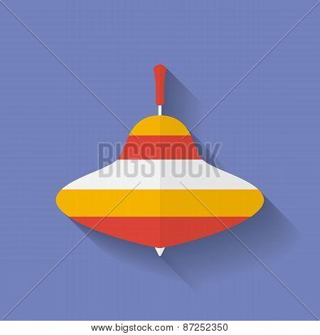 Icon Of Whirligig. Flat Style