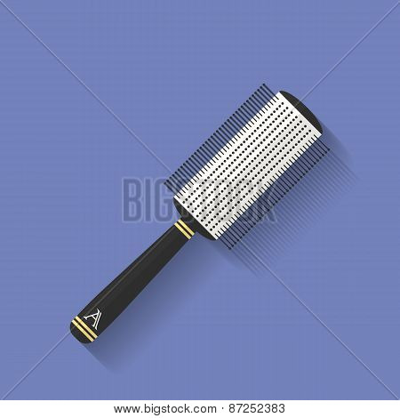 Icon Of Comb, Hairbrush. Flat Style