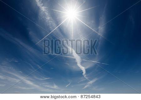 sun in the clear sky