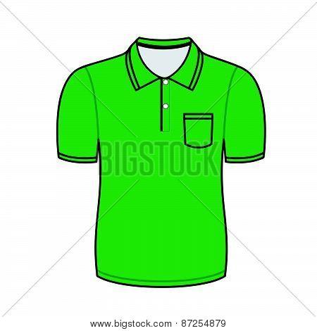 Green polo shirt outline
