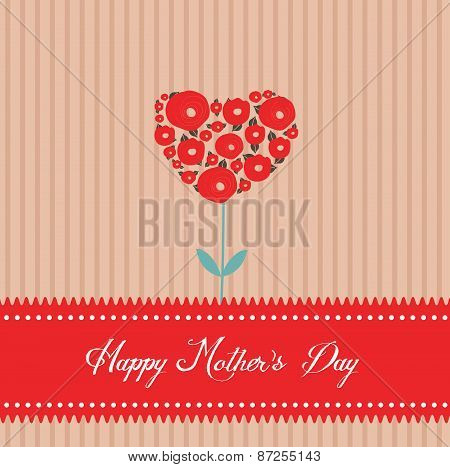 happy mothers day tree heart greeting card