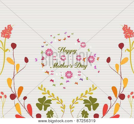 mothers day greeting card florals