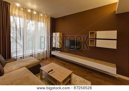 Living room in fresh renovated apartment