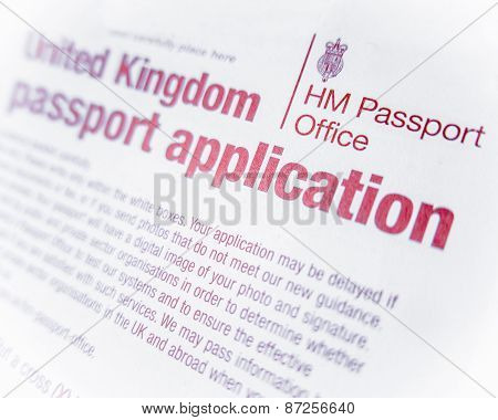 British Passport Form