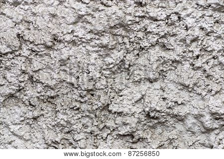 Bumpy Shining Wall Surfaces Of Silvery Color