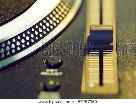 Vinyl Disc On Retro Turntable