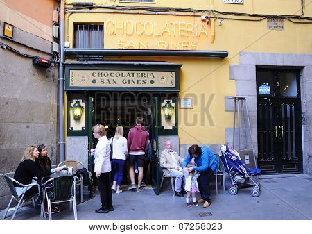 San Gines Chocolate Shop.