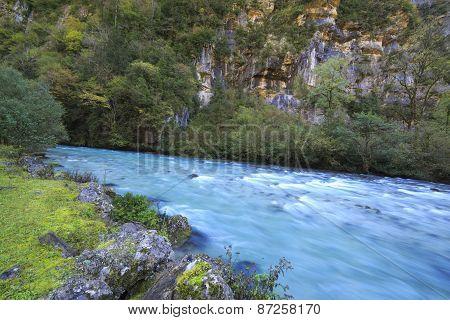 River in Caucasus mountains, Abkhazia, Georgia