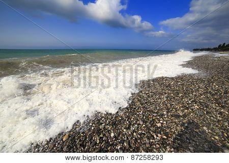 Black sea coast, Tsandripsh, Abkhazia, Georgia