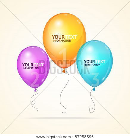 Vector ballon. Option banner