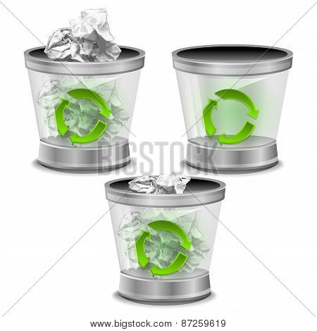 Trash bin illustration