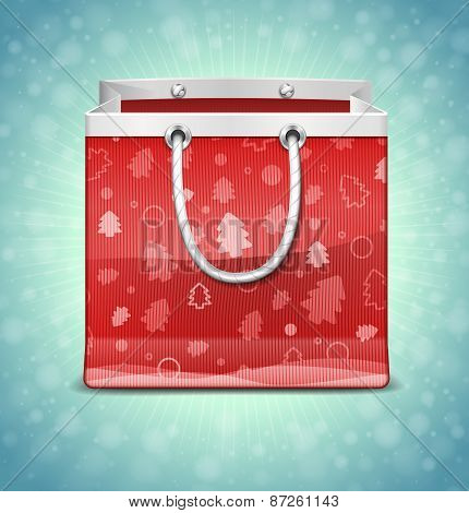Christmas Red Shopping Bag