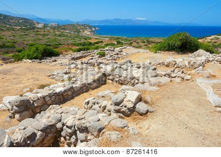 Old Stones Of Gournia. Crete, Greece
