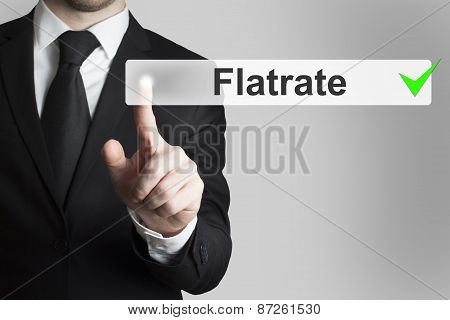 Businessman Pushing Button Flatrate
