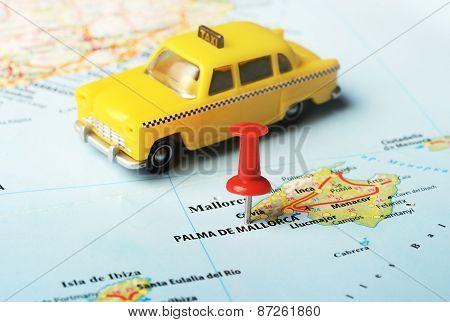 Palma De  Mallorca   ,spain Map Taxi