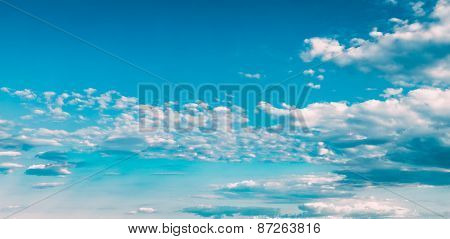 Blue And White Colours Sky Abstract Background