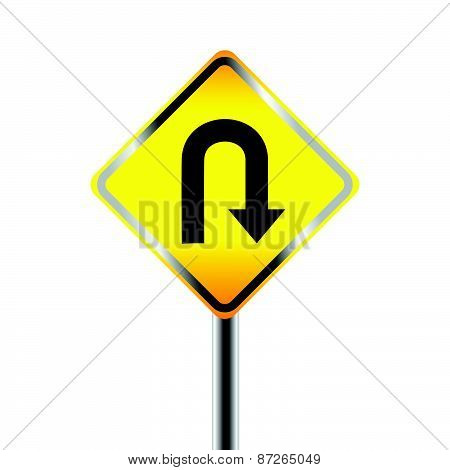 U-Turn road sign