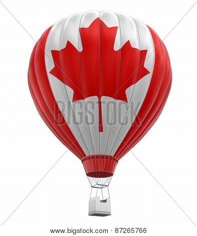 Hot Air Balloon with Canadian Flag (clipping path included)