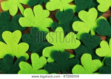 Shamrocks for Saint Patrick's day, closeup