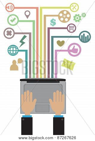 Programming And Technology Network Concept Vector Illustration