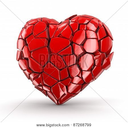 heart falls apart (clipping path included)