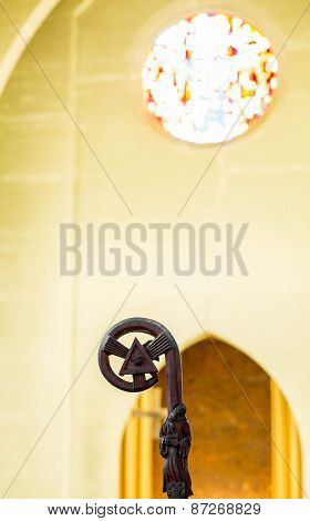 Crozier With Arch And Stained Glass