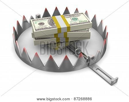 Trap and Dollars (clipping path included)
