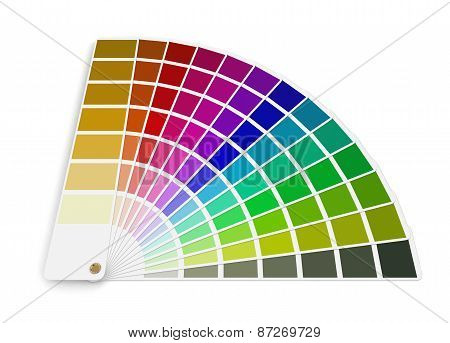 Pantone color palette guide (clipping path included)