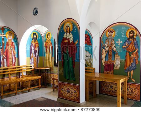 Frescoes and icons in the Church of Profitis Elias
