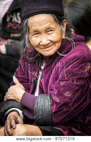 Hmong woman in national clothes, Vietnam