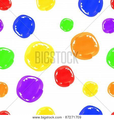 circular spots colored markers