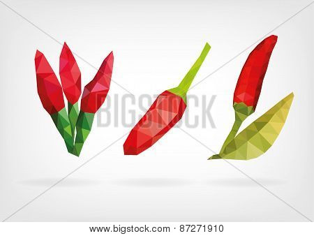 Low Poly Birds Eye or Thai Chilies