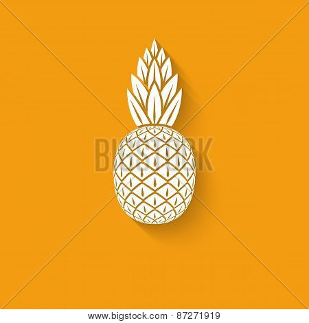 pineapple tropical fruit symbol